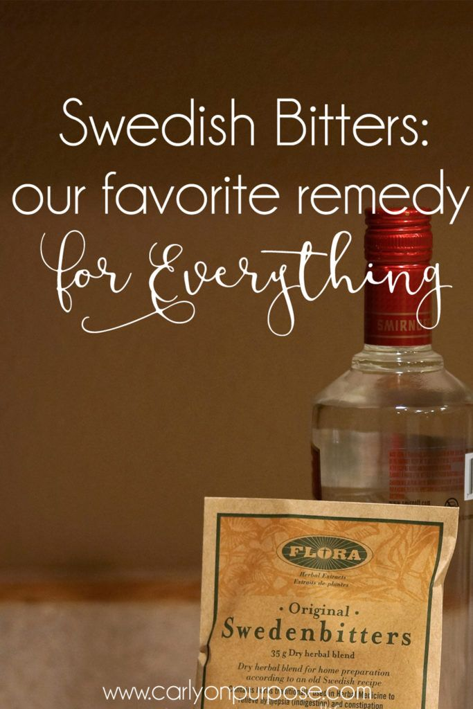 Ever heard of Swedish Bitters? We LOVE the stuff, it's especially great for upset stomachs and itchy-ness.  A short history of what it is and how to make it here.