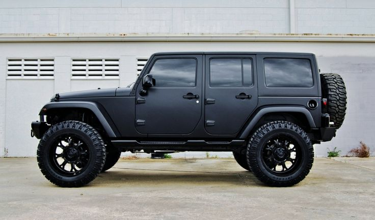 black jeep wrangler unlimited                                         --jf