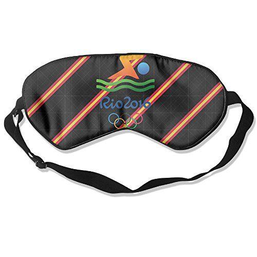 WLHZQS USA SWIMMING Rio 2016 Olympic Logo Natural Silk Eye Mask (without Ice Bag)