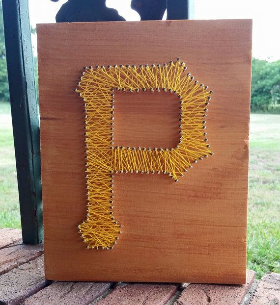 Pittsburgh Pirates Inspired String Art  Custom by NailedItArtistry