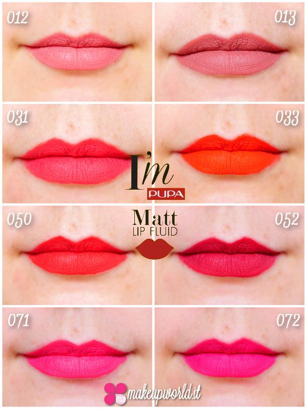 Pupa I'm Matt Lip Fluid - lipstick - pupa - matt - fluid - gloss - make up - colours - packaging - swatch - review