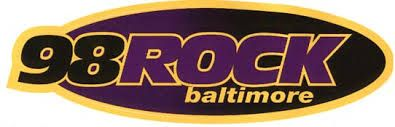 98 Rock Baltimore. After losing both WDHA from Morristown, NJ and KDKB from Phoenix, I think I finally found an AOR station that plays both classic rock and new rock. And this is that station. I notice the logo is Ravens colors. I wonder if that's on purpose or an accident. Who Dey!