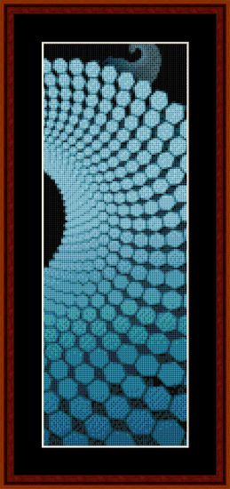 Click to view FREE Fractal counted cross stitch pattern! free for October.