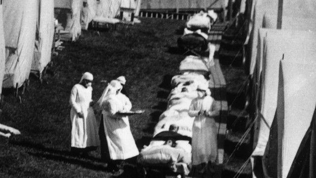 El Día del Armisticio de la Primera Guerra Mundial, en 1918, el mundo ya estaba combatiendo otra batalla. Había estallado la gripe española, una pandemia que al final mató a casi tres veces más personas que los 17 millones de soldados y civiles que fallecieron durante la llamada Gran Guerra.