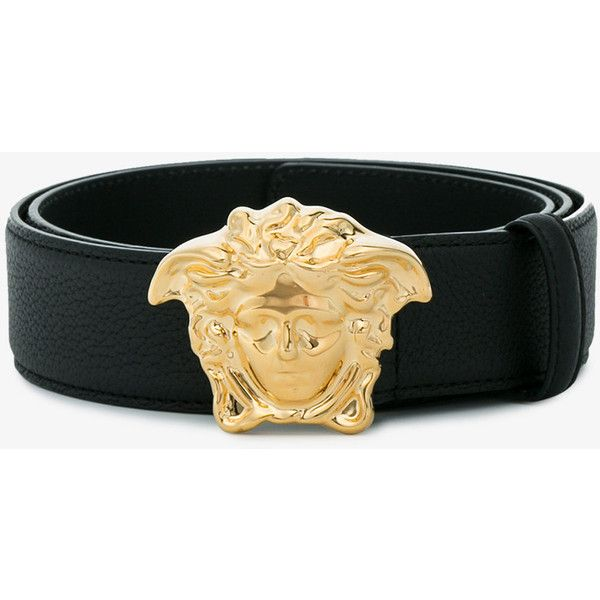 Versace Palazzo Belt With Medusa Buckle ($340) ❤ liked on Polyvore featuring men's fashion, men's accessories, men's belts and versace mens belt