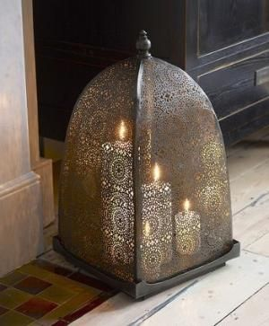 Moorish iron windlight - that is so cool for those windy nights! by opal