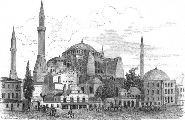 Ayasofya Camii gravürü,1876