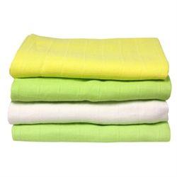 Økologiske stofbleer, 4-pak kiwi  Skønne stofbleer i fine farver er en god økologisk -barselsgave til de nybagte forældre.
