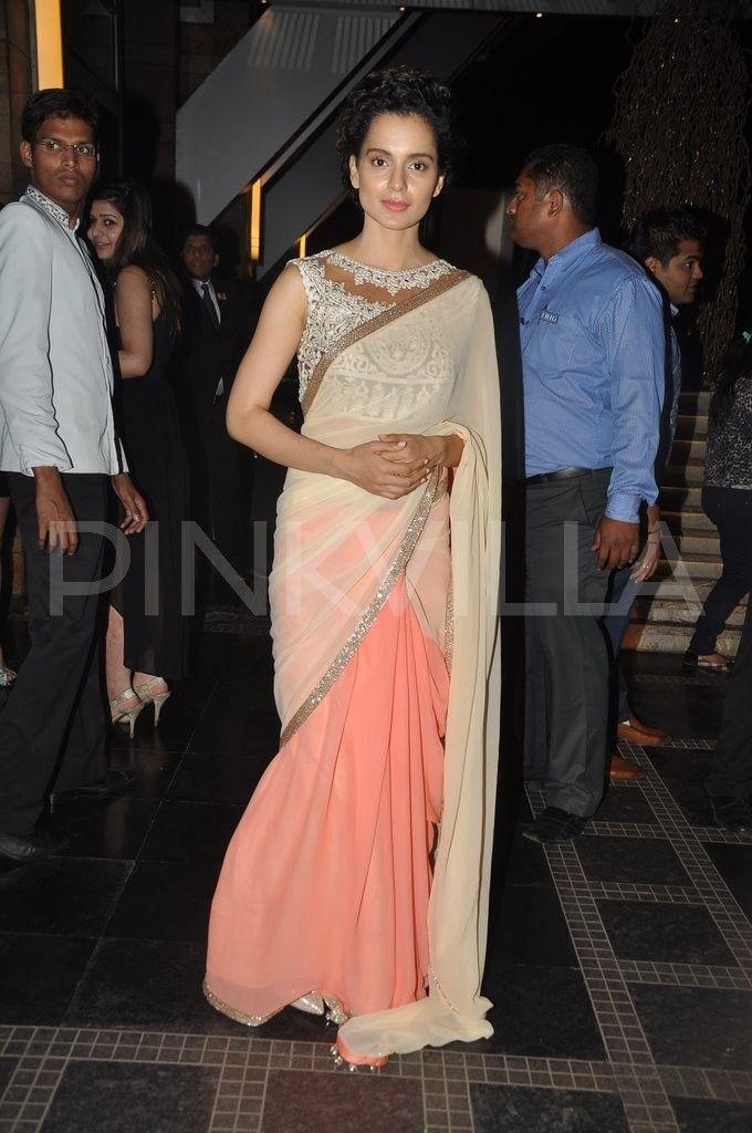 kangana ranaut in manish malhotra sari; tht blouse ^.^