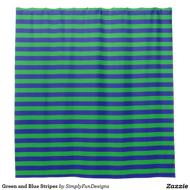 Green And Blue Stripes Shower Curtain Showers Curtains And Stripes