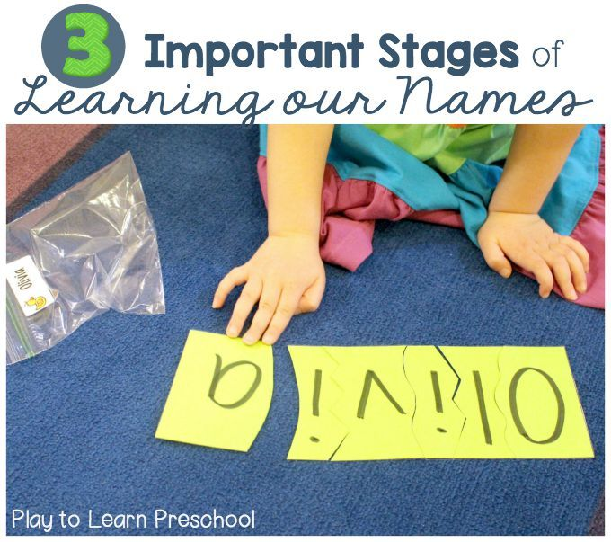 Children go through a series of stages as they learn the most important word to them-- their names.