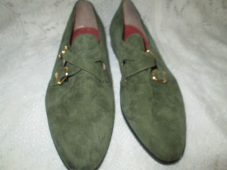 GIORGIO BRUTINI Green Suede Leather Men Shoes Oxford Size 13 M ...