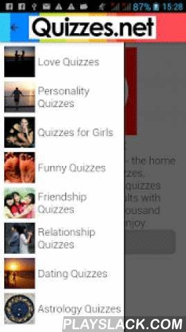 Quizzes - Love & Personality  Android App - playslack.com ,  Take fun personality and love quizzes. With over 30+ categories, choose from 1000+ quizzes. Learn more about your personality. Get answers about your love life. Learn about your zodiac sign, your friendships, relationships, school, family and much more with these quizzes.Take quizzes on your favourite celebrity and find out how much you know about them. Are you a true movie buff? Take quizzes on your favourite movie. Share the…