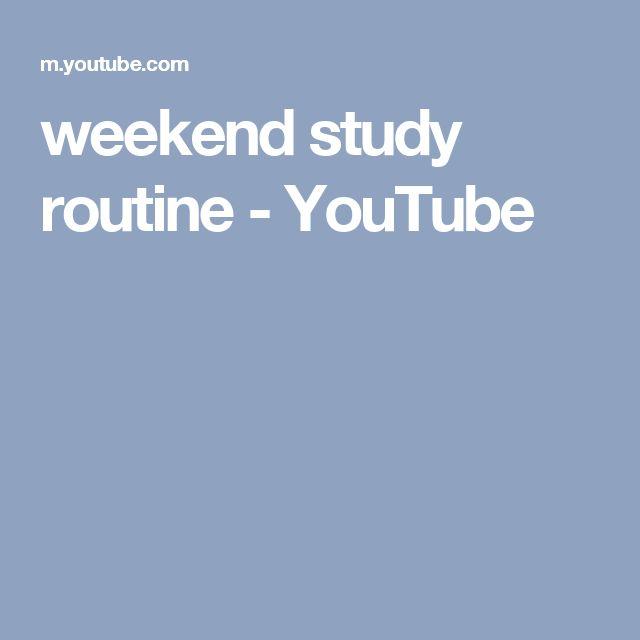 weekend study routine - YouTube