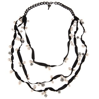 @Overstock - This unique fashion necklace from Betsey Johnson spotlights a gorgeous, layered faux pearl design. The necklace is crafted of base metal with a high-polish finish, and secures with a lobster claw clasp.http://www.overstock.com/Jewelry-Watches/New-Betsey-Johnson-Layered-Faux-Pearl-Necklace/6710814/product.html?CID=214117 $22.49: Fashion Necklace
