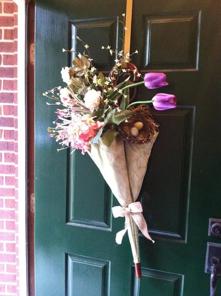 22 Gorgeous Spring Umbrella Door Decoration Decoration Doors And