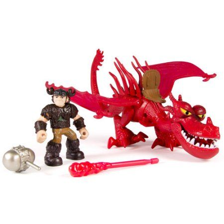 DreamWorks Dragons Dragon Riders Figures, Snotlout and Hookfang, Multicolor