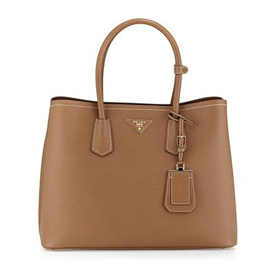 Prada Saffiano Medium Bag, brown bag, brown handbag, brown satchel, brown tote