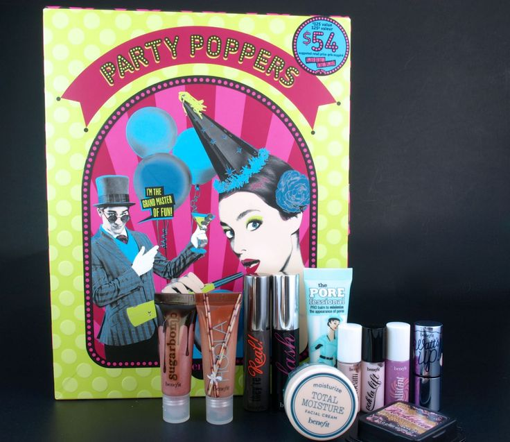 The Happy Sloths: Benefit Holiday 2015 Party Poppers Advent Calendar: Review