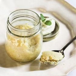 Steamed lemon puddings