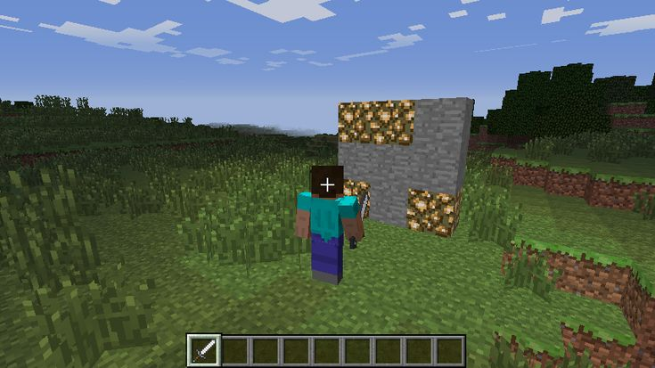 Minecraft Whac-a-Block