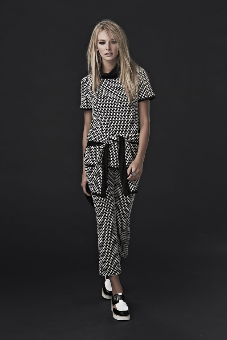 Cooper 'Weave it to Beaver' top, 'High Line' top (around waist) and 'Through Brick and Thin' Pants
