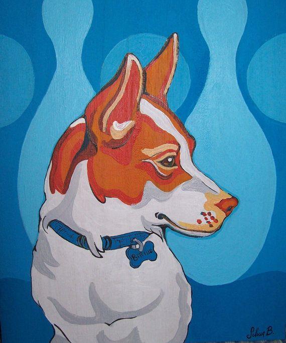 Ritratto di animale domestico 20x20cm di Silviartshop su Etsy