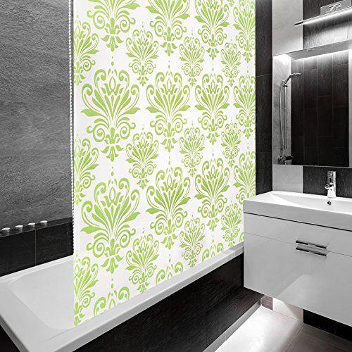 die 25 besten ideen zu gr ne duschvorh nge auf pinterest decke vorhangsstange. Black Bedroom Furniture Sets. Home Design Ideas