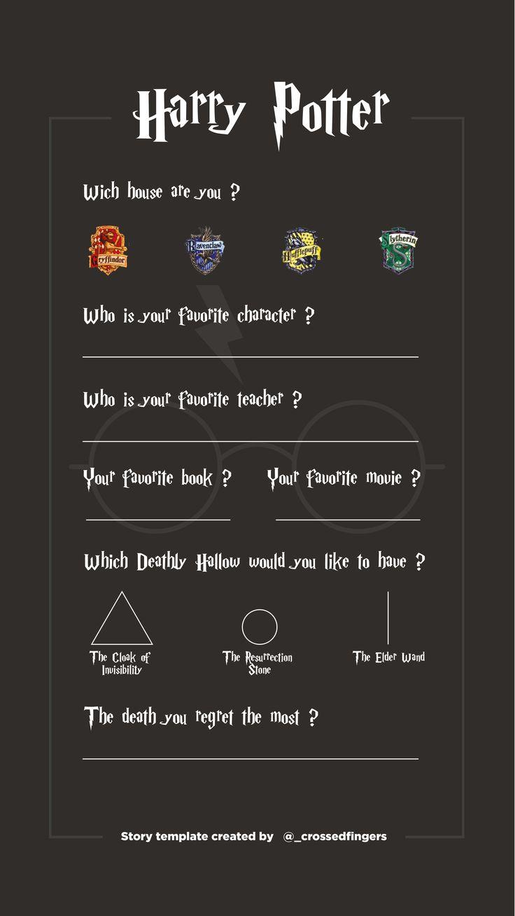 Template Instastory Harry Potter #harrypotter #instagram #template #storytemplates