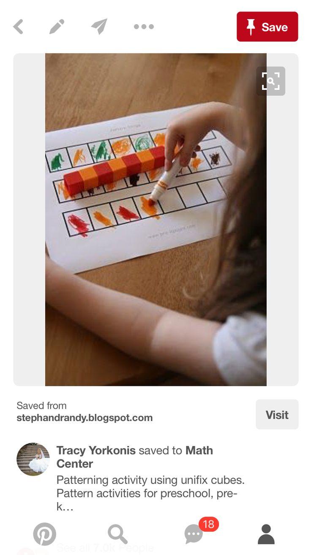 Patterning w unifix cubes