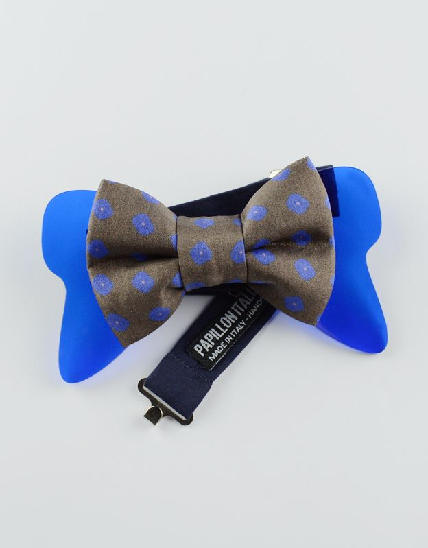 Papillon Floreale con #Plexiglass #Blu - #Seta - Papillon Italiano HandMade - #papillon #HandMade #BowTie #Design #Fashion #Men #blue #silk #Outfit #Papillonitaliano #shop