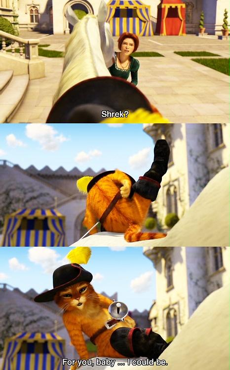 Antonio Banderas as Puss in Boots in Shrek 2