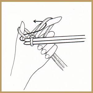 Das Anschlagen von Maschen zu Beginn jeder Strickarbeit sollte nicht zu locker gearbeitet werden,damit die Ränder ihre Form behalten