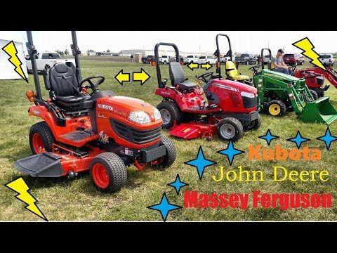 Kubota, John Deere or Massey Ferguson - Sub-Compact Tractors - YouTube