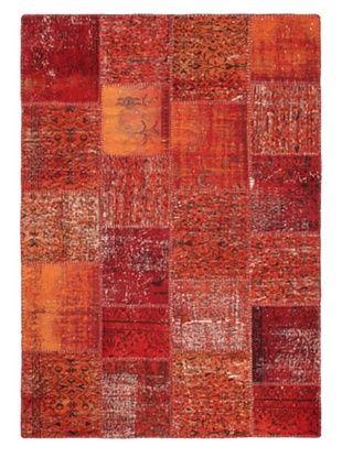 -34,850% OFF Handmade Ottoman Yama Patchwork Wool Rug, Red, 5' 7