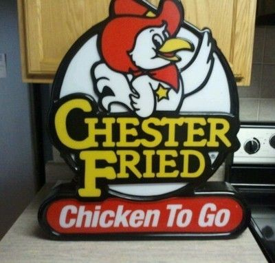 Chester Fried Chicken To Go lighted sign