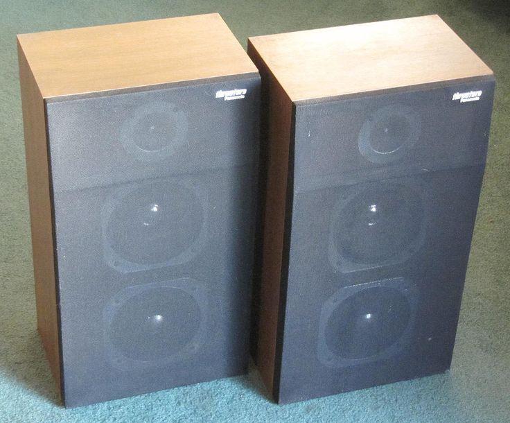 Cool Vintage Panasonic Thrusters Sb 380 Three Way Speakers Vintage Speakers Audiophile Speakers Panasonic