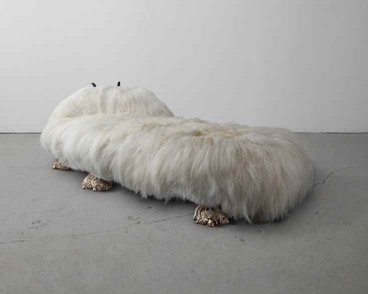 The Haas Brothers Anna Nicole / 2013 Icelandic Sheepskin, Cast Bronze, Carved Ebony