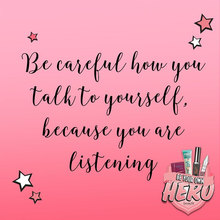 Love yourself and think positive vibes xx #beyourownhero