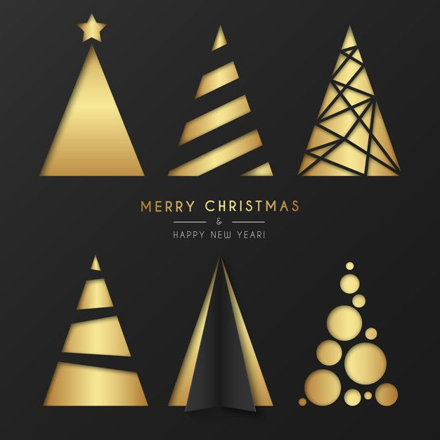 Download Golden Christmas Tree Collection In Modern Style For Free Christmas Tree Collection Christmas Packaging Christmas Time