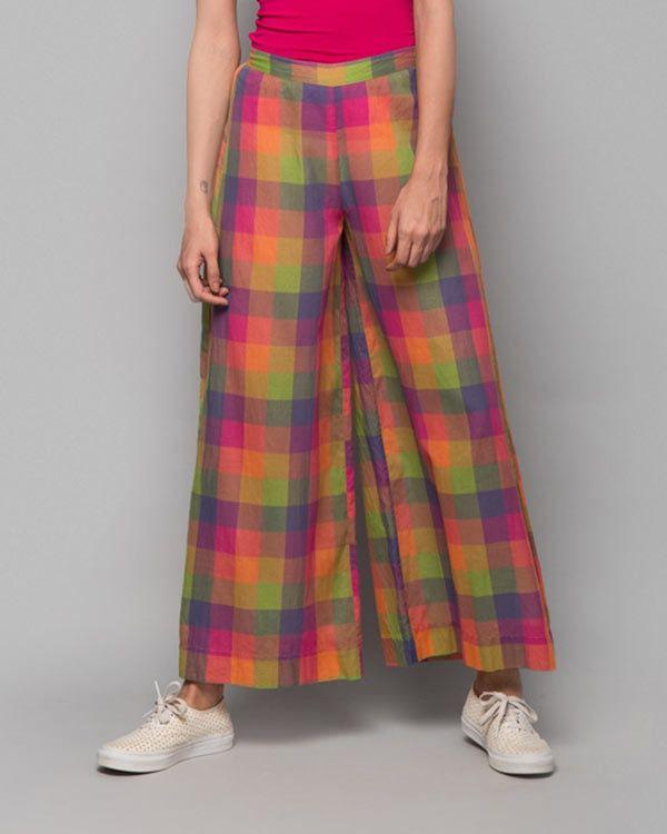 NICOBAR Cotton Trouser - Multi Check