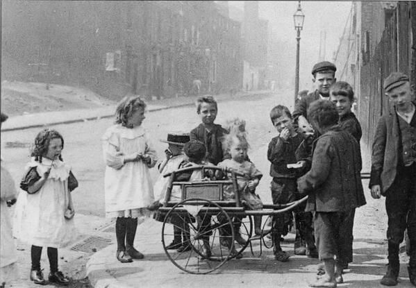 Children playing in the street, Aston Birmingham 1898. My family have been in Aston since 1840s