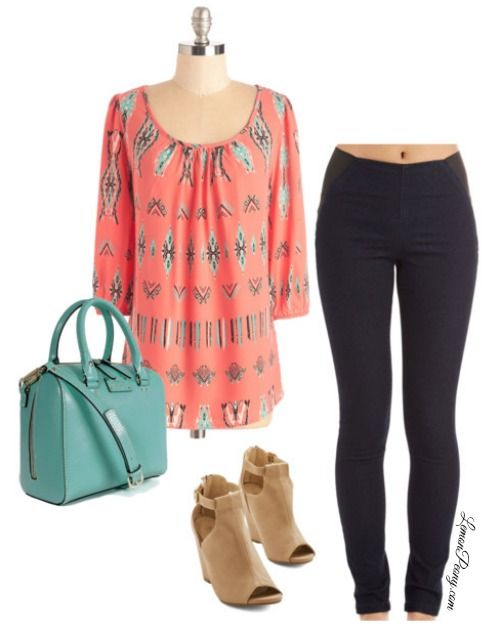 Casual Summer Fashion Trends 2015 | Coral, Black, and Mint!