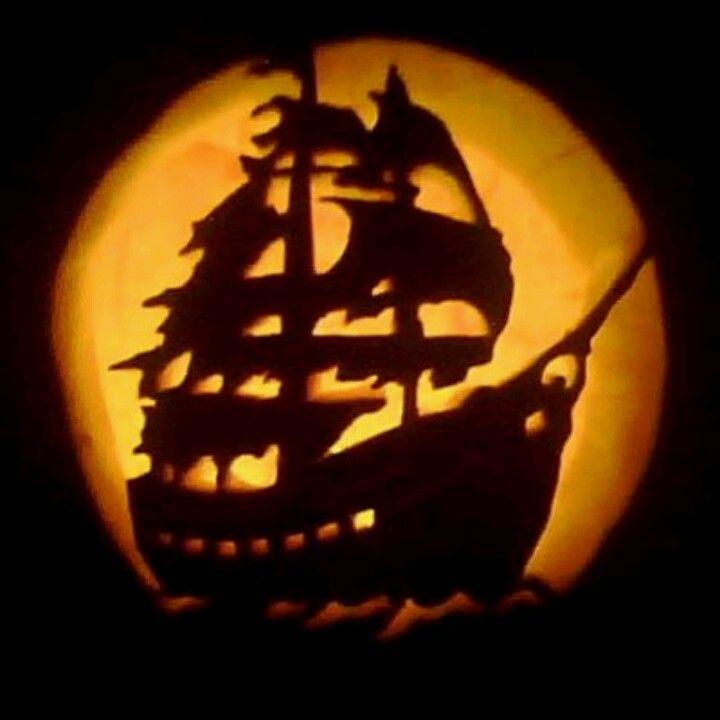 Pumpkin Pirate Ship  Adamblockdesignhalloween