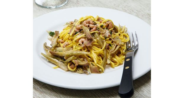 Theo Randall's Taglierini with Brown Shrimp and Artichokes - Quick and Easy Recipes From Stylist Magazine - Stylist Magazine