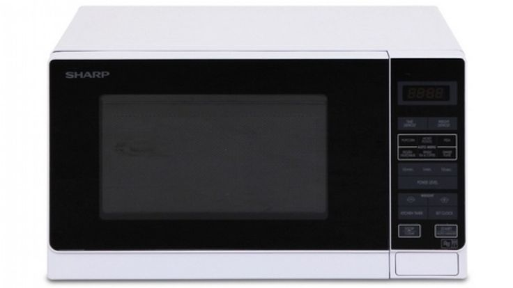 Sharp 750W Compact Microwave Oven - White - Kitchen Appliances - Microwave Ovens   Harvey Norman Australia