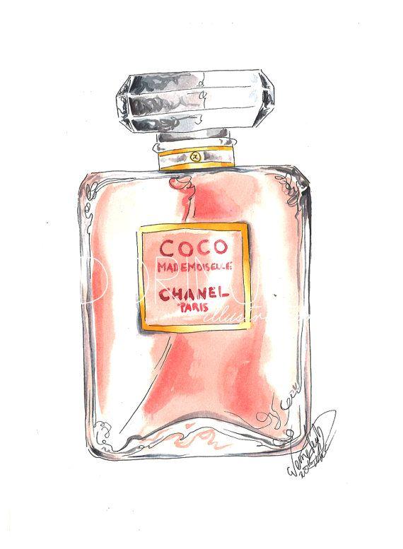 Chanel Fashion illustration art print of by DorinusIllustrations