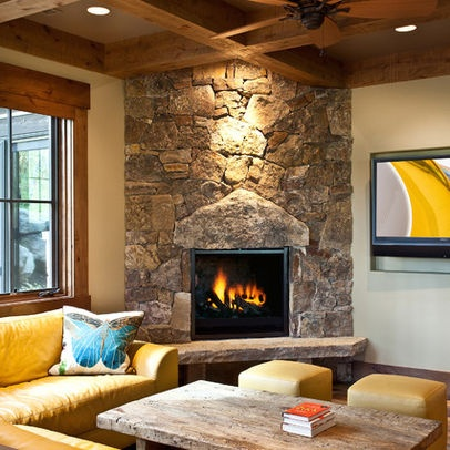 Master Bedroom Corner Fireplace With Stone From Our Creek Home Sweet Home Pinterest Master
