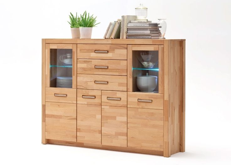 Highboard Massiv Fenja Anrichte Wohnzimmerschrank Holz Kernbuche 22191 Buy Now At