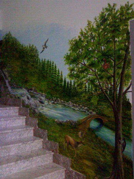 Dipinti su pareti - Murales scala. Autore:Natalia Albanese